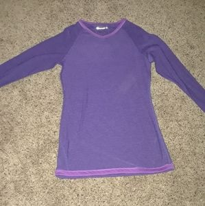 Athletic long sleeve shirt